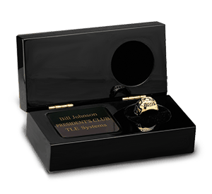 Desktop Award Ring Showcase