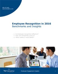Employee Recognition in 2016 Benchmarks and Insights