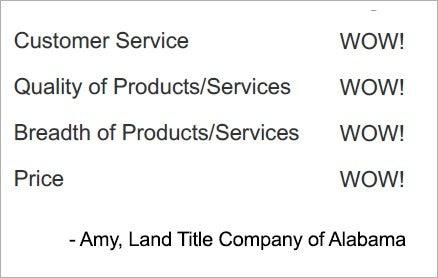 customer testimonial WOW