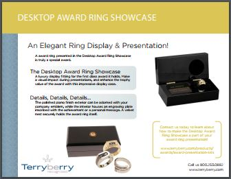 Award Ring Showcase Brochure