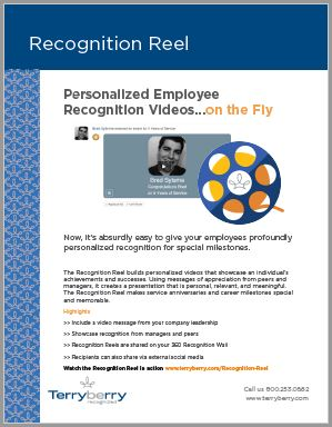 Recognition Reel Brochure