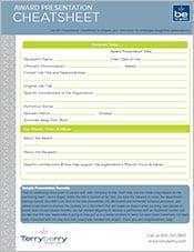 Award Presentation Cheatsheet