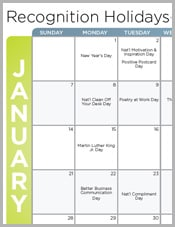 Recognition Calendar 2019