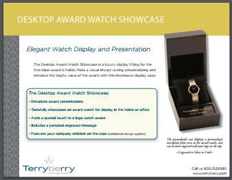 Award Watch Showcase Brochure