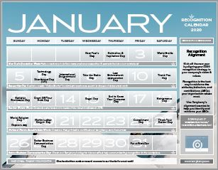 Recognition Calendar 2020