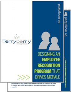 Cover of the Designing an Employee Recognition Program that Drives Morale Whitepaper