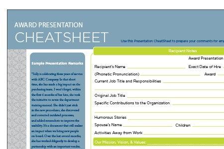 PresentationcheatSheet
