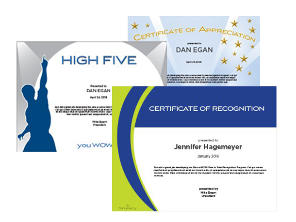 Recognition-Certificates