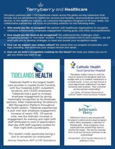 Terryberry partners with clients around the globe in the healthcare industry
